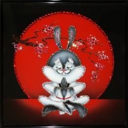 """Картина с кристалами Swarovski """"Японский кролик"""""""
