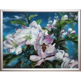 "Картина Swarovski ""Яблони в цвету"""