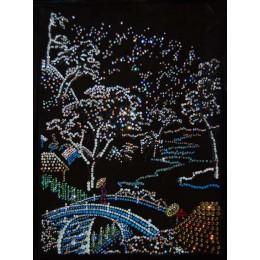 """Картина с кристалами Swarovski """"Зимний пейзаж"""""""