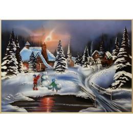 """Картина с кристалами Swarovski """"Зима """""""