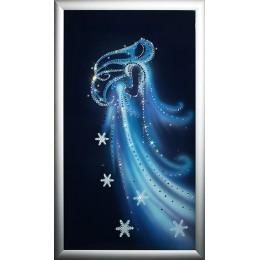 """Картина с кристалами Swarovski """"Зима3"""""""