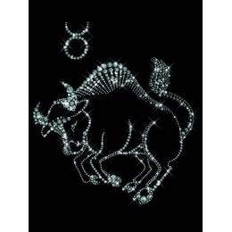 """Картина с кристалами Swarovski """"Знаки зодиака  Телец"""""""