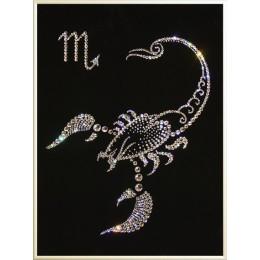 """Картина Swarovski """"Знаки зодиака  Скорпион 2009"""""""