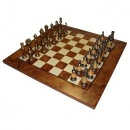 Шахматы «Staunton With Wood» модель 2, бронза