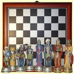 """Настольная игра """"Шахматы"""", """"Христиане и Арабы"""" с доской, 9 см"""