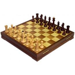 Шахматы классические большие деревянные утяжеленные 9805