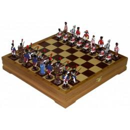 """Шахматы """"Битва при Ватерлоо"""" исторические с фигурами из олова"""