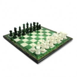 Шахматы из камня Bianco-Verde