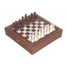 Шахматы каменные малые изысканные из мрамора и оникса