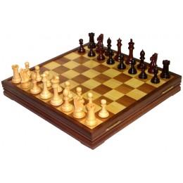 Шахматы классические большие деревянные утяжеленные 9806