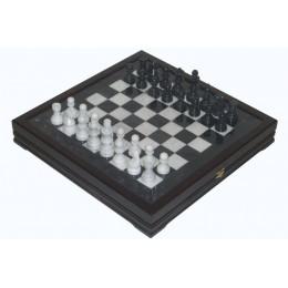 "Шахматы каменные Американские (высота короля 3,50"") мрамор"