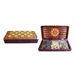 Набор настольных игр (шахматы, шашки, нарды) L39,7 W19,7 H6 см