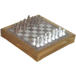 Шахматы каменные Американские из мрамора и оникса