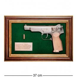 """ПК-219 Панно с пистолетом """"Стечкин"""" в подарочной упаковке 25х37"""