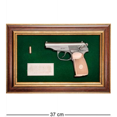 """ПК-220 Панно с пистолетом """"Макаров"""" в подарочной упаковке 25х37"""