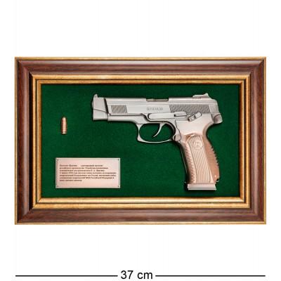 """ПК-222 Панно с пистолетом """"Ярыгин"""" в подарочной упаковке 25х37"""