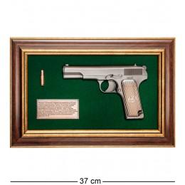 """ПК-223 Панно с пистолетом """"ТТ"""" в подарочной упаковке 25х37"""
