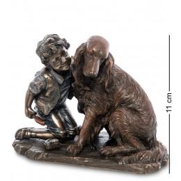 """WS-989 Статуэтка """"Мальчик с собакой"""""""